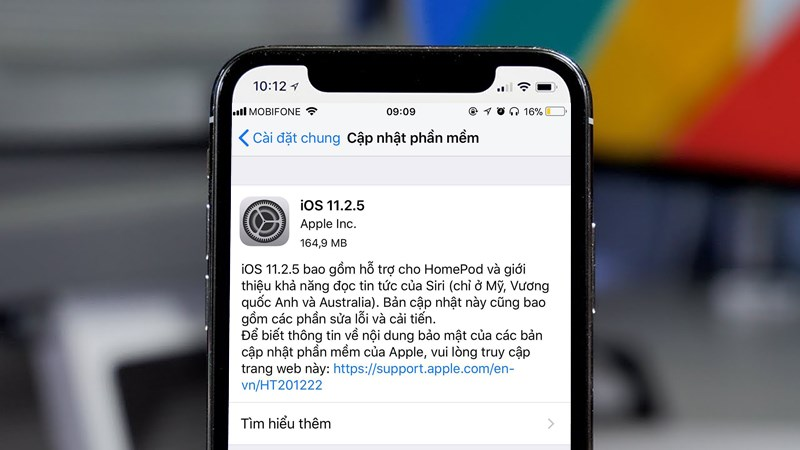 Hướng dẫn Update IOS mới trên Iphone